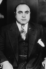 Al Capone dressed in a Suit