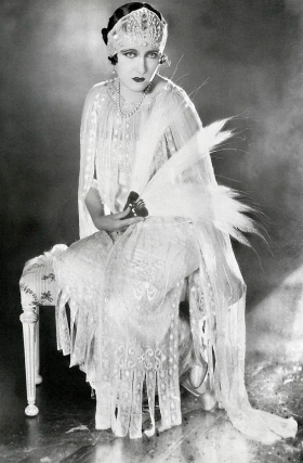Gloria Swanson 1920sWedding Dress
