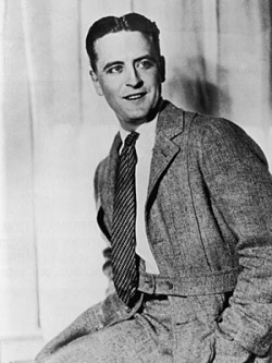 F Scott Fitzgerald In Wool Suit And Silk Tie