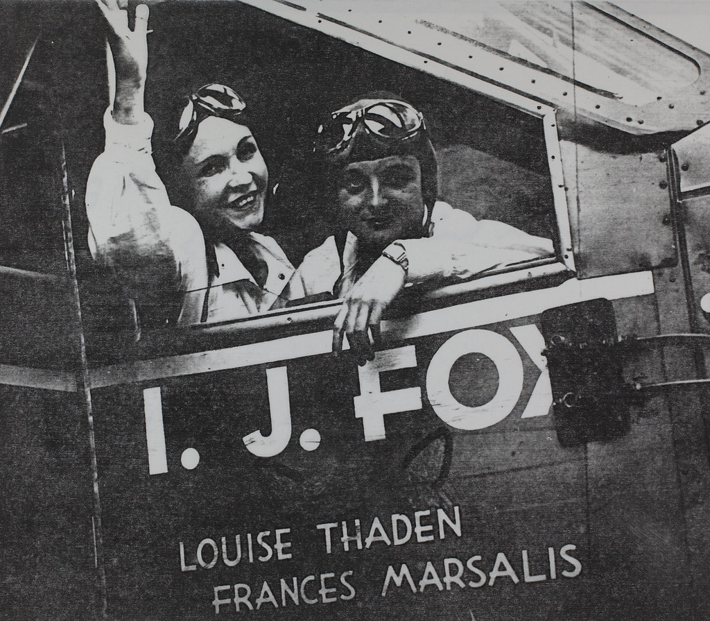 Louise Thaden and Frances Marsalis in their plane