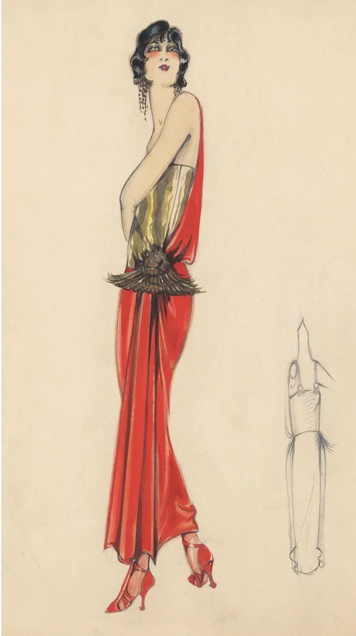 Art deco dress fashion