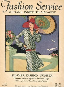 The womens institute of america with a flapper dress pattern