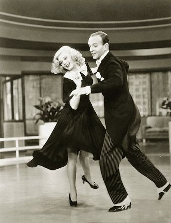 fred astaire and ginger rogers doing the foxtrot, their signature dance