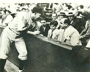 Al Capone and His Son At a Chicago Cubs Game