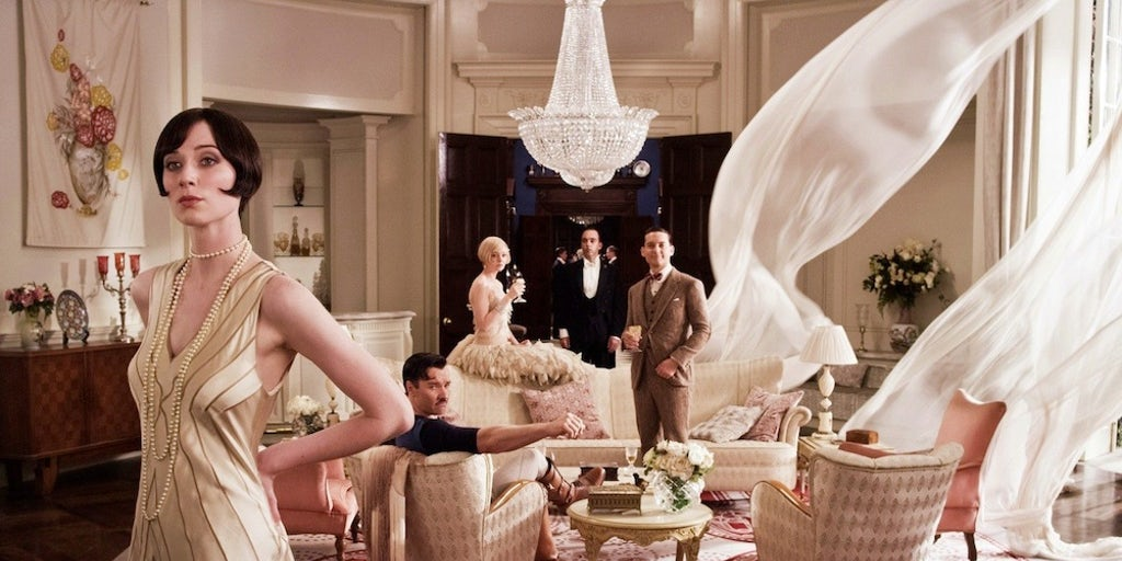 a gatsby style party is really what you should strive to complete the feeling of