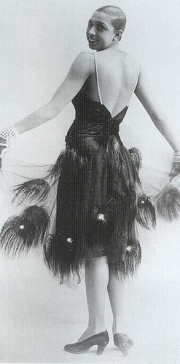 Josephine baker - dressed in peacock feathers
