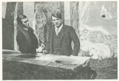 Picasso and leonide Massine in 1917