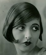 Natalie King with a bobbed hairstyle, a typical flapper styled hair